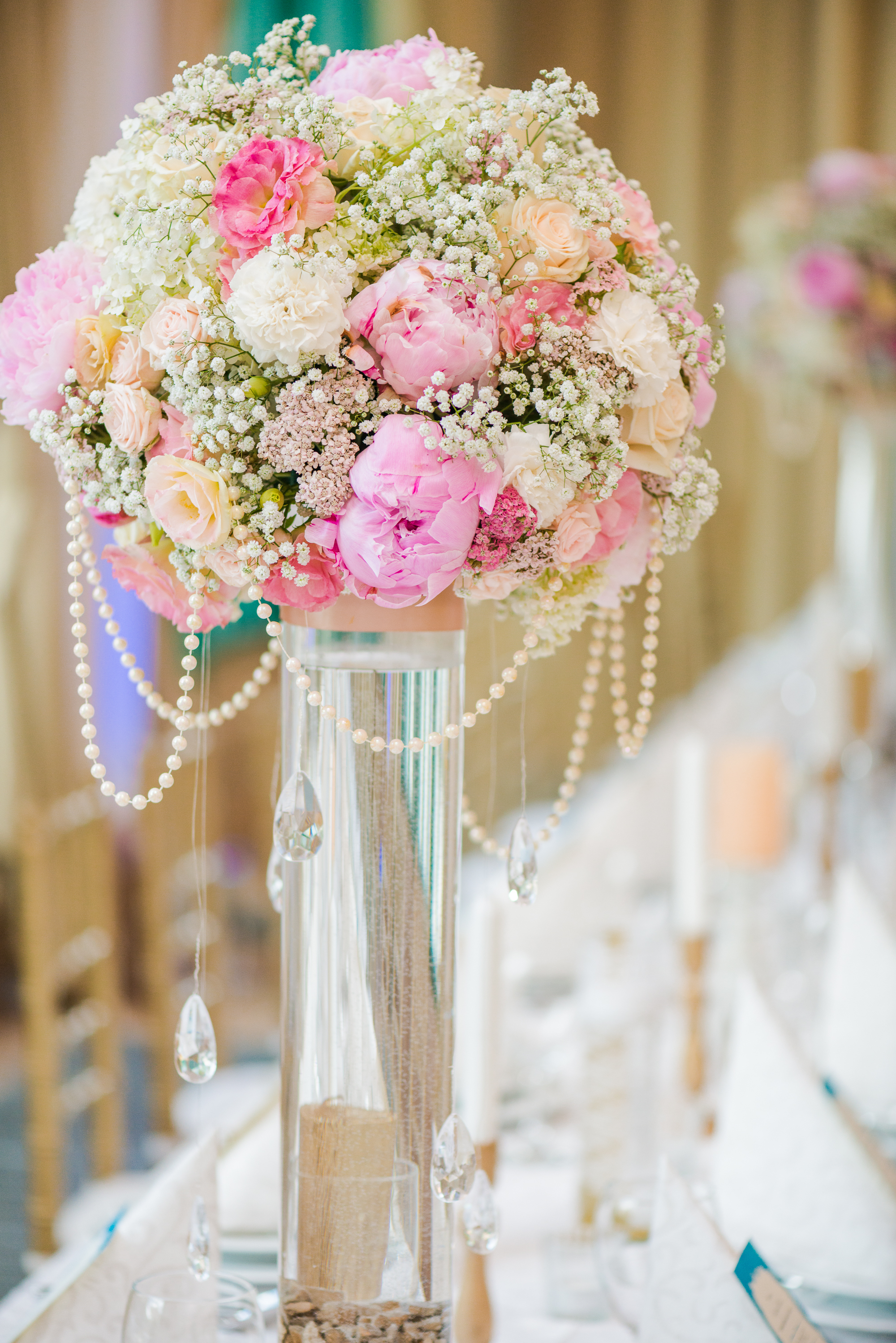 décoration-table-mariage-bouquet